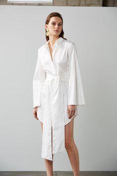Fiction Shirt Dress – Ivory