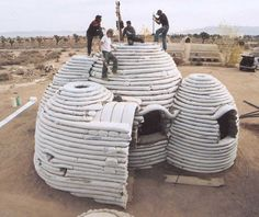 Earth bag shelter