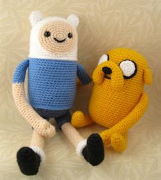 LucyRavenscar - Crochet Creatures: Adventure Time with Finn and Jake.