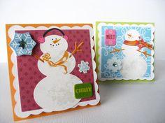 Snowman tags by mailbox memories