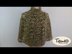 Capa tejida a ganchillo - YouTube Body Wraps, Knitting Videos, Capelet, Shawl, Knit Crochet, Lily, Sewing, Anna, Crochet Cape