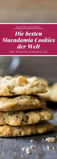 Die besten Macadamia Cookies der Welt | #Rezept von malteskitchen.de Easy Peasy, Sweet Tooth, Cereal, French Toast, Bakery, Sweet Treats, Food Porn, Good Food, Food And Drink