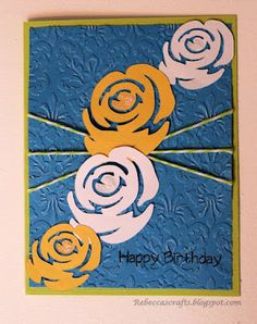 Rose Birthday card made with the Cricut Indie Art cartridge