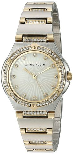 Anne Klein Women's Quartz Metal and Alloy Dress Watch, Color:Two Tone (Model: AK/2417MPTT) -- Find out more about the great watch at the image link.