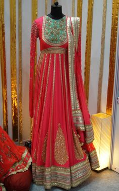 Nikasha Hot Pink Gota Patti #Anarkali.