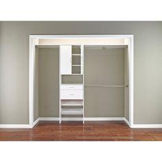 ClosetMaid SuiteSymphony Laminate Closet Organizer - White