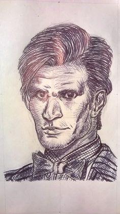 Caricatura di Matt Smith, alias Doctor Who, penna - Drawing of Matt Smith, alias Doctor Who, pen