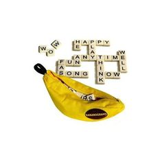 Bananagrams is a fast and fun word game that requires no pencil, paper or board. All you need is a table. One hand can be played in as little as five minutes. It's a great game for family fun as well as being educational. Word Games, Fun Games, Games To Play, Recess Games, Banana Gram, Childrens Christmas Gifts, Travel Toys, Games For Teens, Educational Toys