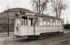 Tramwaj LH Standard Linken-Hofman Lata 1925-1935 , Tramwaj linii 18 przed Halą Stulecia. Lata 20-30. Napis - Zimpel (Sępolno).