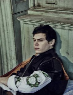 Evan Peters. Photo by Chris Colls. Styling by Gro Curtis.  menswear mnswr mens style mens fashion fashion style editorial