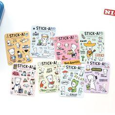 PONYBROWN Buhabear cute illustration transparent sticker