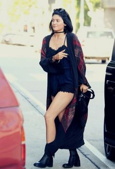 d95a48f7b7 kylie jenner choker necklace black choker kylie jenner jewelry grunge black  romper long cardigan kimono necklace - Keeping Up With The Kardashians  Romper ...