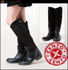 """CENTO X CENTO Venezia"" Real leather  Boots  Made in Italy"