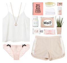 """""""Antoinet"""" by etheras ❤ liked on Polyvore featuring moda, Monki, Crate and Barrel, Tommy Hilfiger, Agent Provocateur, Susanne Kaufmann, Frette, PLANT, philosophy e Chanel"""