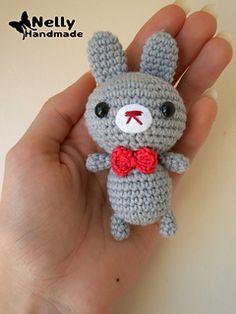 FREE Small Grey Bunny amigurumi pattern by Nelly Handmade