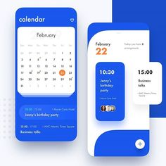 Blue is done perfectly in this way 💙 app design app design, Android Design, App Ui Design, Interface Design, Web Mobile, Mobile Web Design, Apps, Calendar Ui, Clean Web Design, Flat Design
