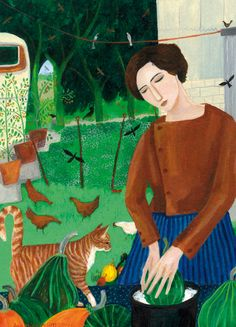 'Curious Cat Watching', by Dee Nickerson. Published by Green Pebble (UK). Distributed by Art Publishing (Australia). www.greenpebble.co.uk www.artpublishing.com.au
