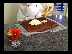 Culinária - Rocambole de chocolate - YouTube