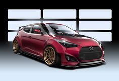 Hyundai Motor America and Gurnade Inc. combined talents to develop the race-ready Gurnade Veloster Concept for the 2016 SEMA show. The Gurnade Veloster Con Veloster Turbo, Hyundai Veloster, Racing Seats, Engine Swap, Roll Cage, Auto News, Fender Flares, Concept Cars, Carbon Fiber