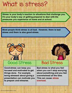 Stress Management Activity Bundle Teaching Kids To Manage Stress
