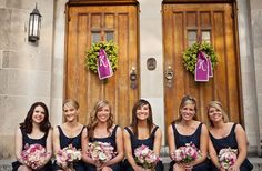 wedding in Navy and Purple,....thought of a little white and green? Make things cheaper.