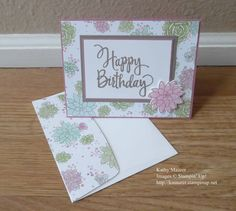 Birthday Card made with Stampin' Up!'s Stylized Birthday, Suite Sentiments, and Oh So Succulent Stamps and Succulent Framelits.  For details, go to my Wednesday, May 3, 2017 blog at http://www.stampinup.net/blog/2130686/entry/may_3