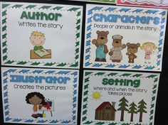 Story Elements Unit with anchor charts and graphic organizers