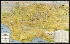 1934 Map of Los Angeles. Look at all those oil rigs!