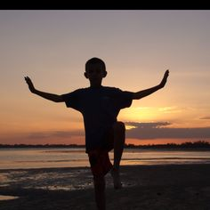 Crane on the sandbar at sunset- St. Lucie Inlet, Stuart Florida