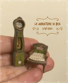1/48 antiche reloj dollshouse miniaturas hechas a mano de