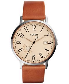 Fossil Women's Vintage Muse Tan Leather Strap Watch 40mm ES3958 | macys.com