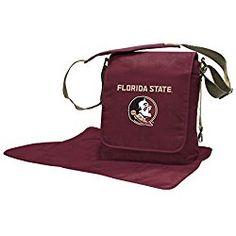 Florida State Seminoles Lil Fan Messenger Diaper Bag in Sports Mem, Cards & Fan Shop, Fan Apparel & Souvenirs, College-NCAA Messenger Diaper Bags, Dad Diaper Bag, Florida State University, Florida State Seminoles, South Carolina Gamecocks, Backpack Straps, Changing Pad, A Team, Team Logo