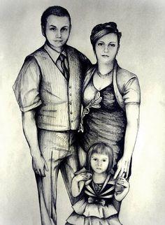 #people #myart #art #portrait #family #girl #child #women #men #elegant #drawing #illustration #love