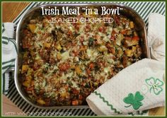 Irish Meal in a Bowl, Baked Chopped   By KC the Kitchen Chopper,  How much more Irish can this get?  Corned Beef, Cabbage (Sauerkraut), Potatoes, Peas, Irish Cheddar and more.  Bake it now or make it ahead.  That's the versatility of The Baked Chopped.  I chose  ...read moreRead more...