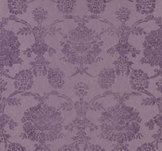 Sukumala Lino Thistle (PDG648/08) - Designers Guild Wallpapers - A stunning distressed antique damask with a distinctive matt paste printed look on a gorgeous coarse textural ground. A heavyweight non-woven paper for easy hanging and washability. Wide width for better wall coverage and more liberated design. Shown here in shades of purple. Paste the wall product. Please request a sample for true colour match.