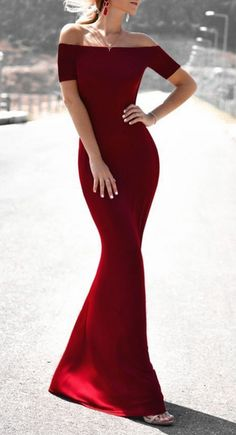 Off the Shoulder Mermaid Prom Dress,Long Burgundy Prom Dress,Sexy Formal Dress,Floor Length Prom Dress,Short Sleeve Woman Dresses Sexy Formal Dresses, Prom Dresses 2018, Tight Dresses, Elegant Dresses, Pretty Dresses, Beautiful Dresses, Short Dresses, Bridesmaid Dresses, Maxi Dresses