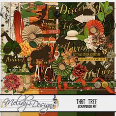 That Tree Digital Scrapbook Kit by Melidy Designs >> http://melidydesigns.com/product/that-tree-kit