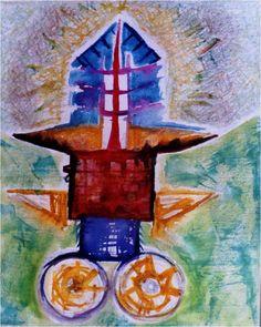 "Dibujo serie ""Carritos"". De Maria Egea."