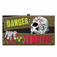 #Decoración colgante #Peligro #Zombies #Halloween #Danger
