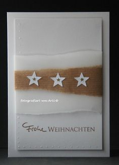 Christmas Cards Schlichte Weihnachtskarte How much water does a lawn really need? Star Cards, 3d Cards, Bird On Branch, Bird Tree, Christmas Cards To Make, Simple Christmas, Christmas Aesthetic, Clear Stamps, Cardmaking