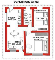 Resultado de imagen de planos de casas de interes social con medidas