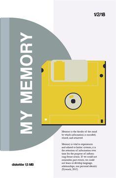 My memory. Flat design diskette.