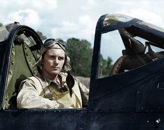 First Lieutenant Paul A. Mullen of VMF-214, Guadalcanal, June 6th 1943