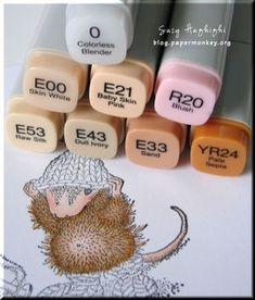 Great tutorial for House Mouse Stamps using Copic markers by Ravynspeex