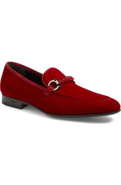 Salvatore Ferragamo 'Lord' Velvet Bit Loafer (Men) available at #Nordstrom