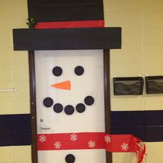 Winter Bulletin Board Ideas - snowman for small bulletin boards