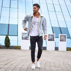 Style by @_donthiago_  Via @streetfitsgallery  Yes or no?  Follow @mensfashion_guide for dope fashion posts!  #mensguides #mensfashion_guide