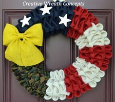 Patriotic U.S. Marine Corps Wreath by CreativWreathConcept on Etsy