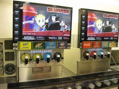 Slurpee machines yes I want my own personal one some day