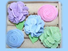 Assorted felt flower rings by NanasGarden2 on Etsy, $5.00